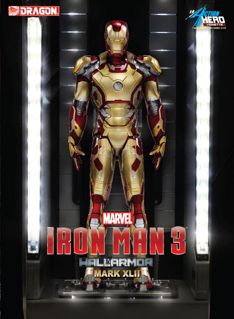 38132 19 Iron Man 3 Hall Of Armor Mkxlii Multi Poseable