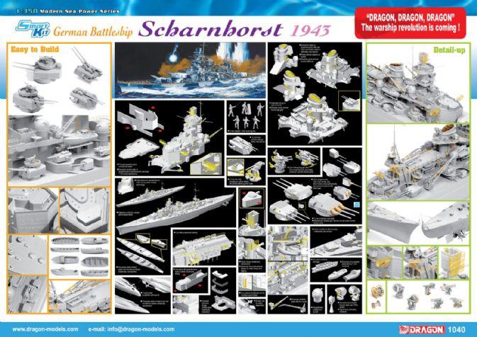 Holzdeck DIY Teile für 1//350 Scharnhorst 1943 Dragon 1040 Schlachtschiff Modelle