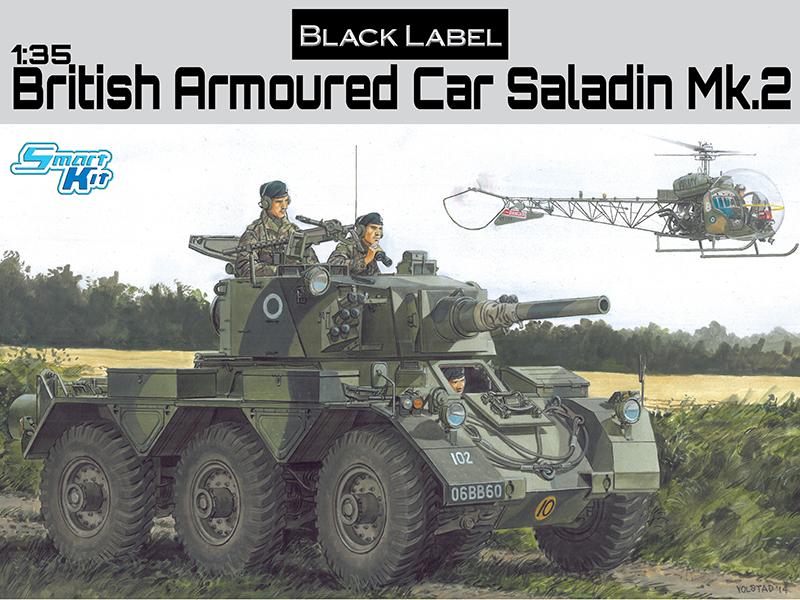 3554 - 1/35 British Armored Car Saladin Mk 2 - Dragon
