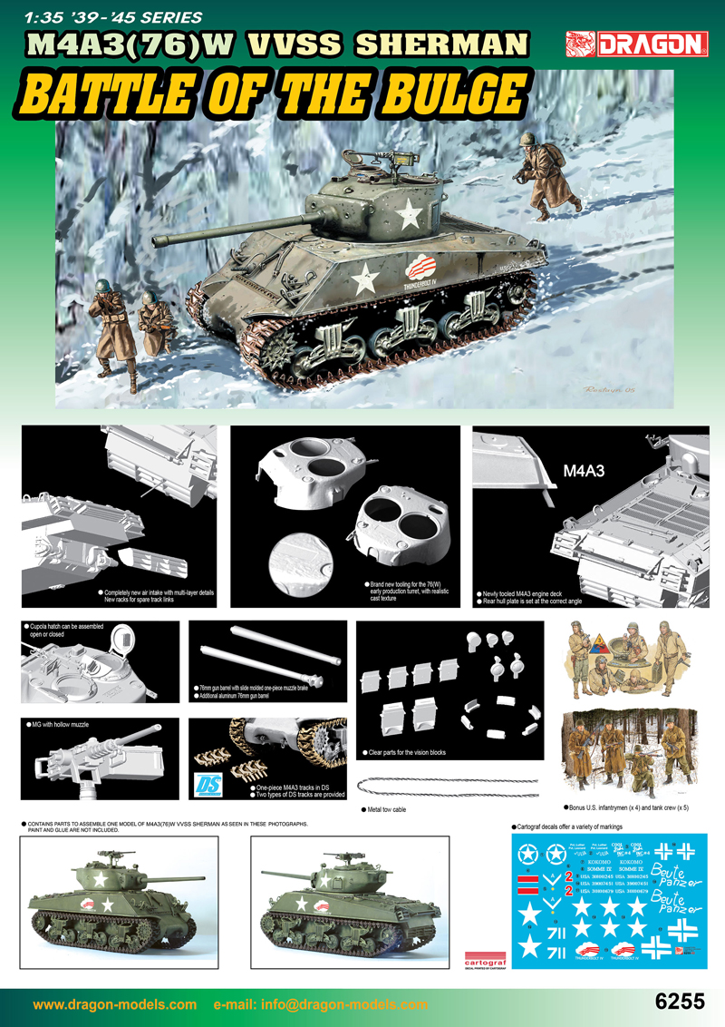 6255 - 1/35 M4A3(76)W VVSS Sherman (Battle Of The Bulge