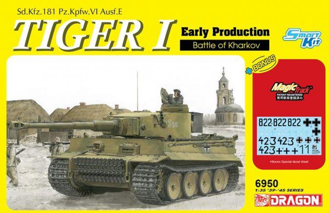 maqueta Tanque aleman Escala 1:35 Tiger I Early Kharkov Dragon 6950