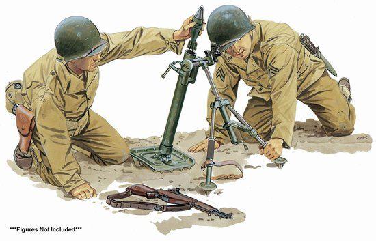 75024 - 1/6 U S  60mm M2 Mortar - Dragon Plastic Model Kits