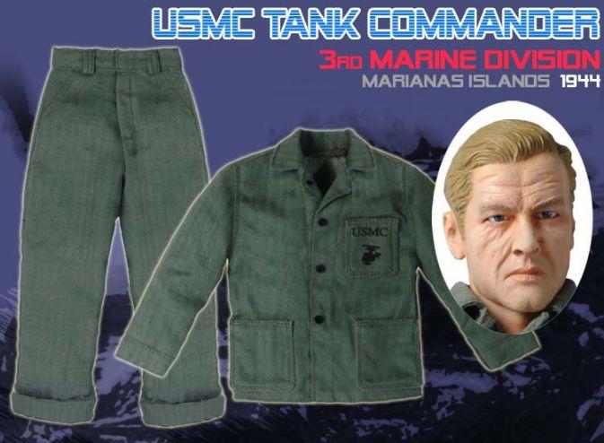 "Dragon WWII 1//6 USMC Tank Commander Sergeant /""Mike Walker/"" Marianas Islands 1944"