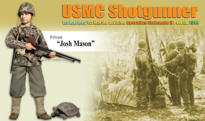 "Dragon WWII 1//6 USMC Shotgunner Private /""Josh Mason/""  1st Marines Peleliu 1944"