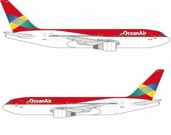 55474 - Brazil Ocean Air 767-300 ~ PR-ONA - Dragon Wings