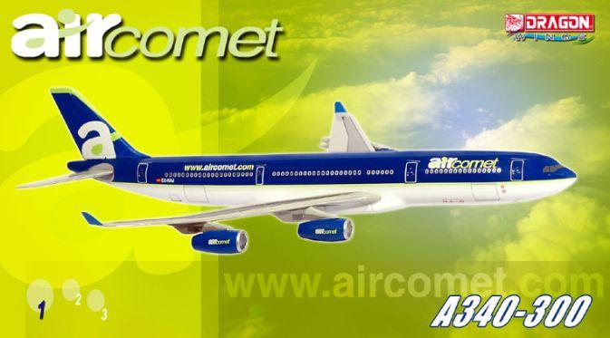 55502 Air Comet A340 300 Ec Kaj Dragon Wings Airliners